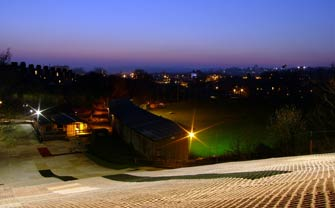 The floodlit slope photographed by one of our members